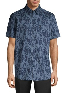 Ben Sherman Frond Print Short-Sleeve Shirt