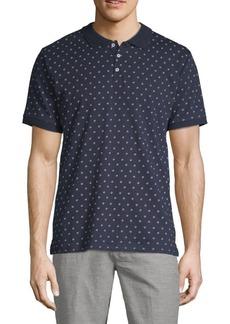 Ben Sherman Geometric Floral Cotton Polo