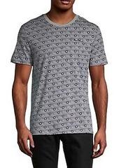 Ben Sherman Geometric-Print Heathered T-Shirt