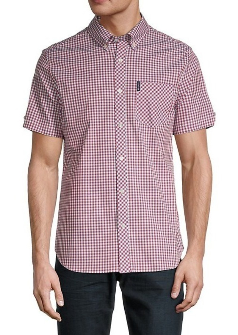 Ben Sherman Gingham-Print Short-Sleeve Shirt