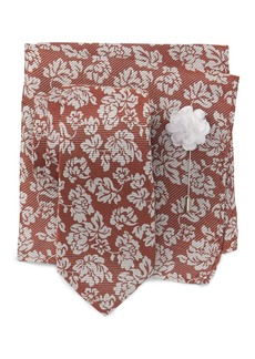 Ben Sherman Ian Floral Tie, Pocket Square & Pin Set