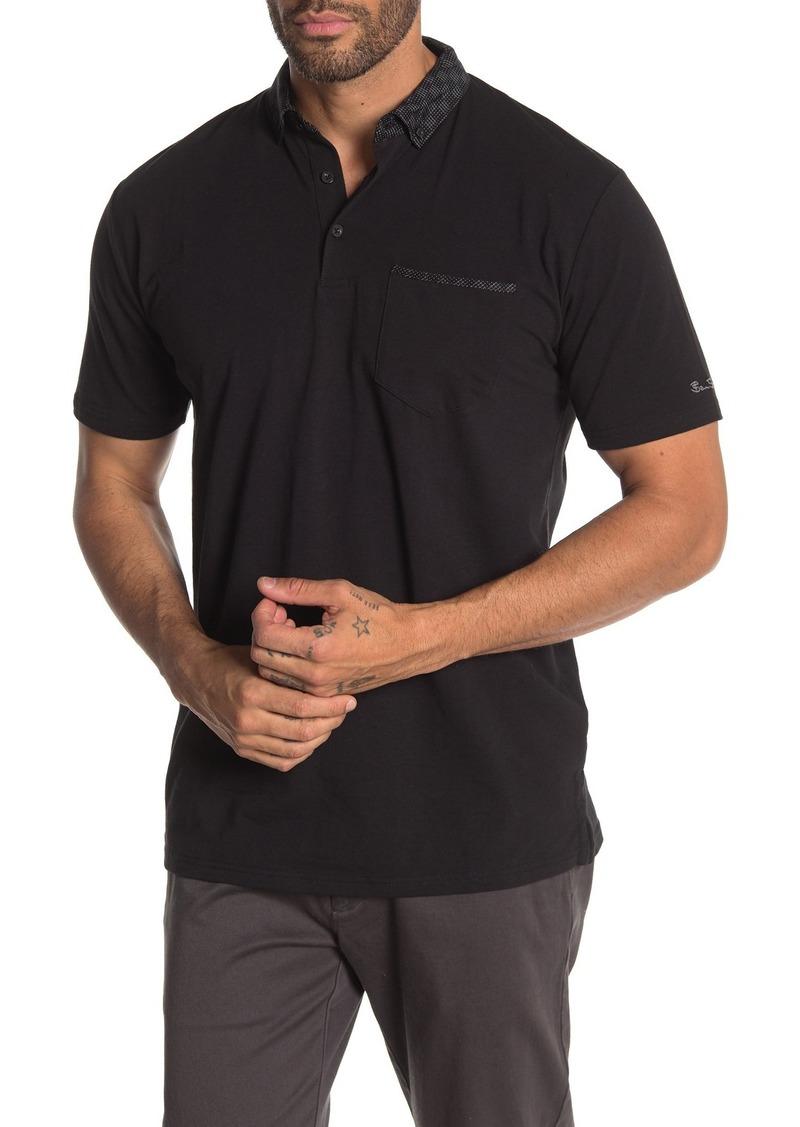 Ben Sherman Jacquard Trim Classic Fit Polo Shirt