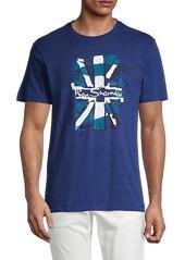 Ben Sherman Logo Flag-Print Cotton T-Shirt