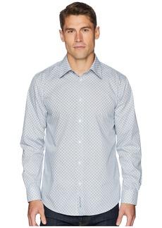 Ben Sherman Long Sleeve Bias Check Print Shirt