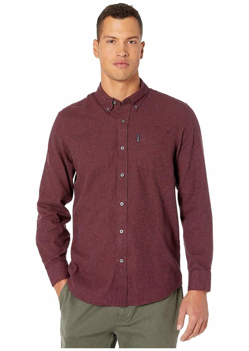 Ben Sherman Long Sleeve Brushed Dogtooth Shirt