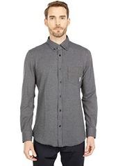 Ben Sherman Long Sleeve Gingham Jacquard Knitted Shirt