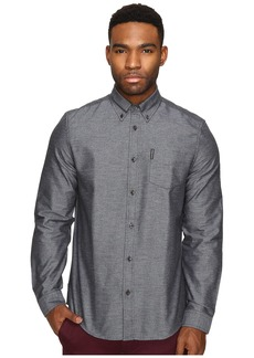 Ben Sherman Long Sleeve Herringbone Donegal Woven Shirt