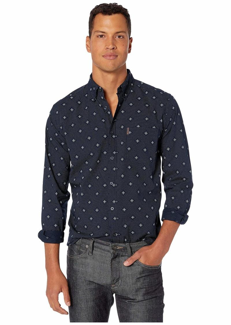 Ben Sherman Long Sleeve Mini Dot Flower Shirt