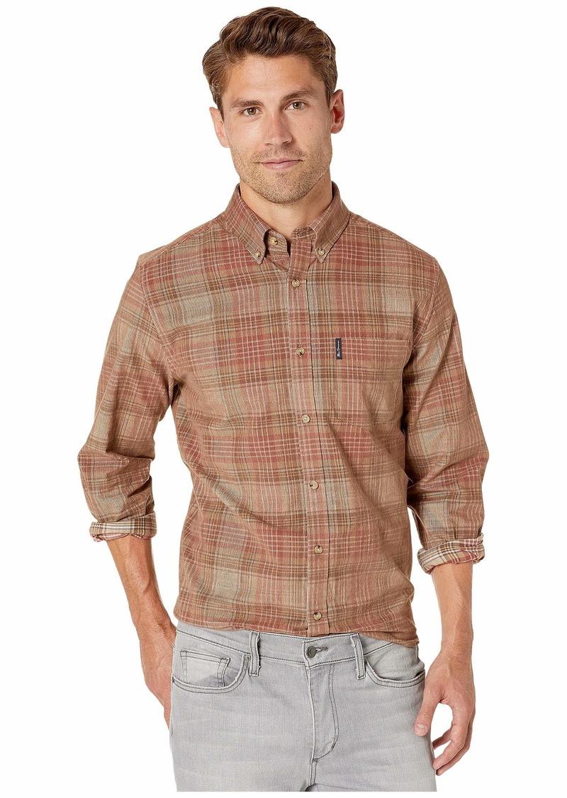 Ben Sherman Long Sleeve Tonal Cord Plaid Shirt