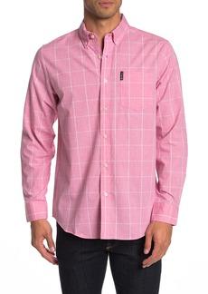 Ben Sherman Long Sleeve Windowpane Union Fit Shirt