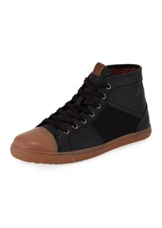 Ben Sherman Mason High-Top Mixed-Media Sneaker