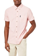 Men's Ben Sherman Slim Fit Check Short Sleeve Stretch Button-Down Shirt