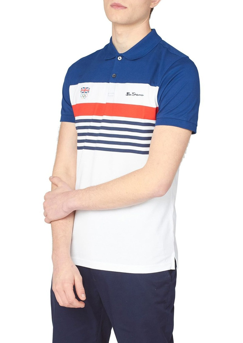 Men's Ben Sherman Team Gb Chest Stripe Polo Shirt
