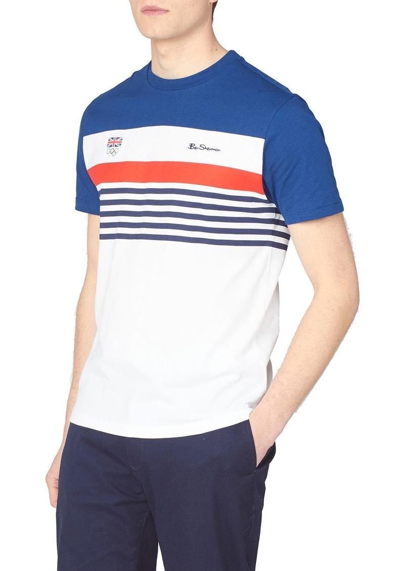 Men's Ben Sherman Team Gb Chest Stripe T-Shirt