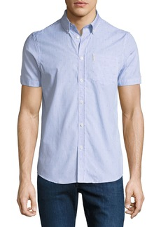 Ben Sherman Men's Bengal-Striped Short-Sleeve Sport Shirt