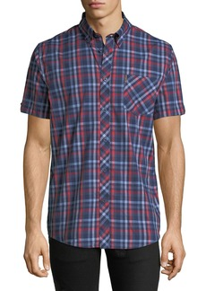 Ben Sherman Men's Checkered Short-Sleeve Sport Shirt