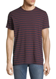 Ben Sherman Men's Distorted-Stripe Fashion T-Shirt