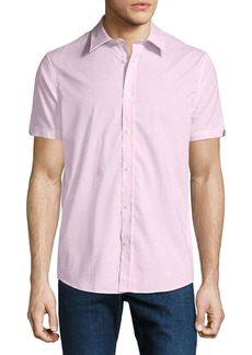 Ben Sherman Men's End-On-End Short-Sleeve Sport Shirt