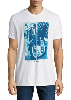 Ben Sherman Men's Half-N-Half Graphic Tee