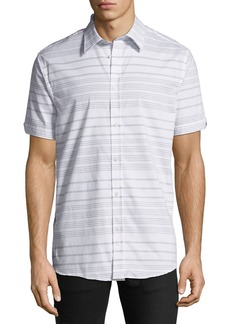 Ben Sherman Men's Horizontal-Striped Short-Sleeve Sport Shirt