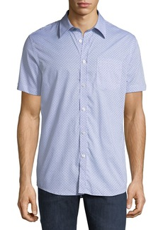 Ben Sherman Men's Printed End-On-End Short-Sleeve Sport Shirt