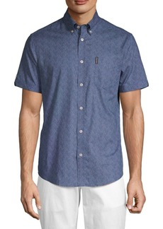 Ben Sherman Micro Daisy-Print Button-Down Shirt