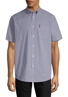 Ben Sherman Micro Gingham Cotton Button-Down Shirt