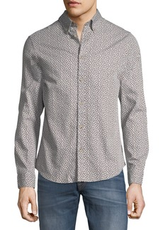 Ben Sherman Micro-Twill Floral Button-Front Shirt