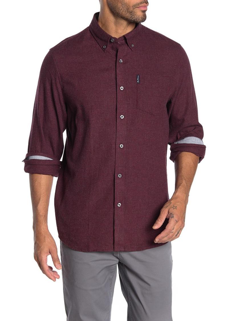 Ben Sherman Mini Check Brushed Woven Shirt