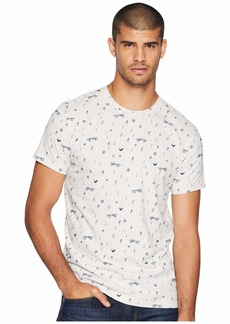 Ben Sherman Music Note Print Fashion Crew Shirt