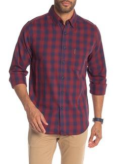 Ben Sherman Classic Fit Ombre Plaid Print Shirt
