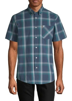 Ben Sherman Ombre Plaid Short-Sleeve Shirt