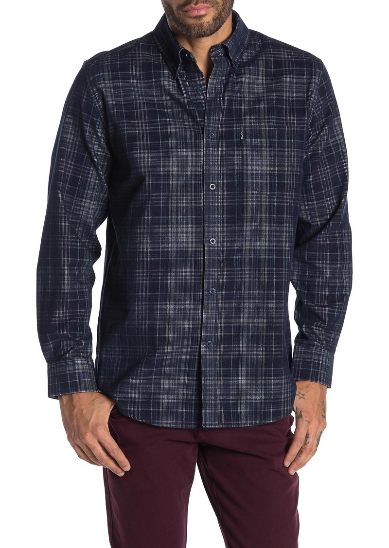 Ben Sherman Plaid Print Corduroy Classic Fit Shirt