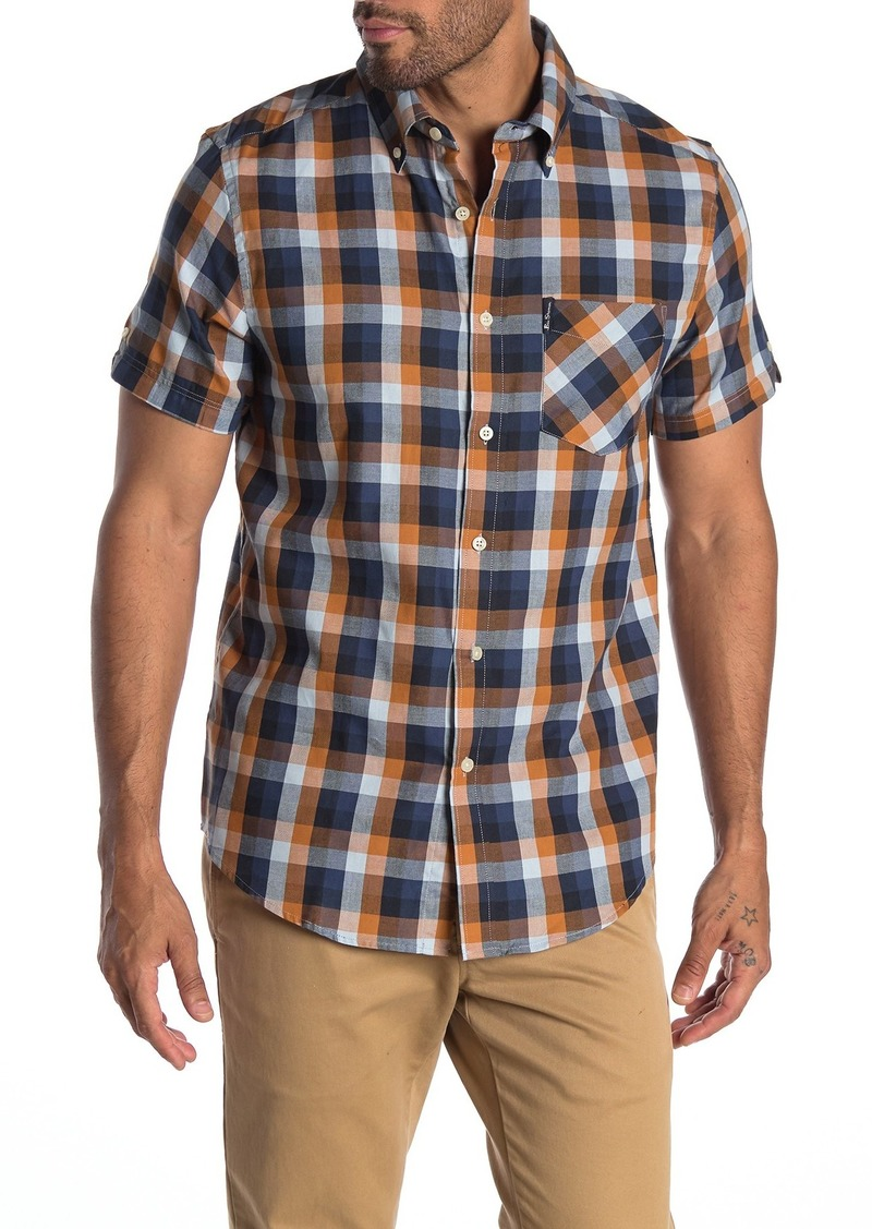 Ben Sherman Plaid Short Sleeve Union Fit Shirt