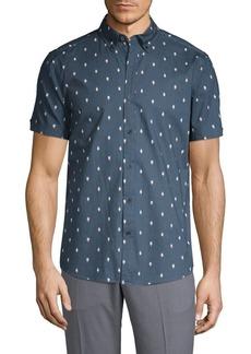 Ben Sherman Printed Short-Sleeve Button-Down Shirt