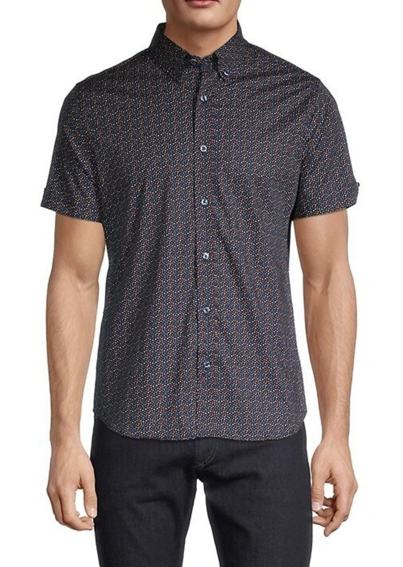 Ben Sherman Regular-Fit Dot-Print Shirt