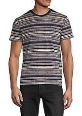 Ben Sherman Reverse-Print Striped T-Shirt