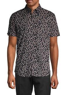 Ben Sherman Scattered Scratch Print Short-Sleeve Shirt