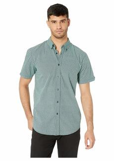 Ben Sherman Short Sleeve Checkerboard Sport Print Shirt