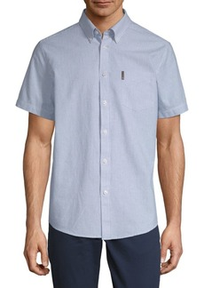 Ben Sherman Short-Sleeve Cotton Button-Down Shirt