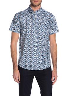 Ben Sherman Short Sleeve Flag Print Pocket Shirt