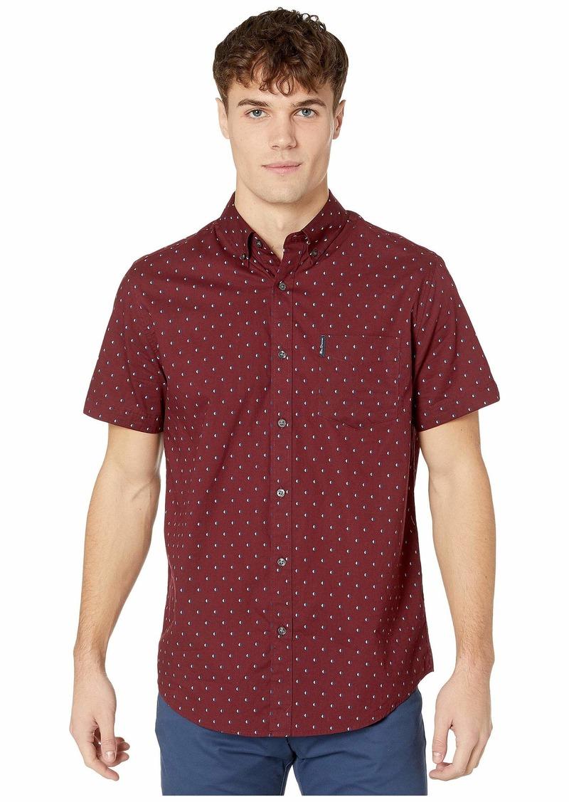 Ben Sherman Short Sleeve Multi Spot Stripe Print Shirt