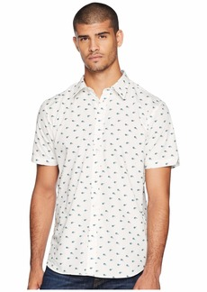 Ben Sherman Short Sleeve Peacock Feather Print Shirt