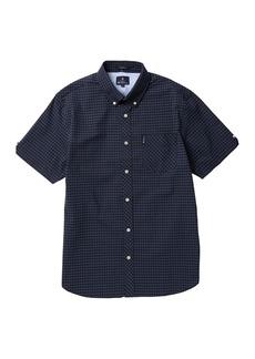 Ben Sherman Short Sleeve Plaid Print Woven Shirt