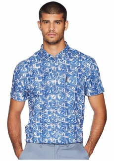 Ben Sherman Short Sleeve Tropic Plaid Shirt