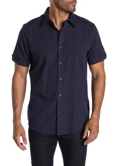 Ben Sherman Short Sleeves Dash Dot Checkboard Union Fit Shirt