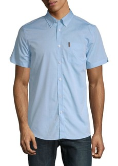 Ben Sherman Stretch Dot Dobby Cotton Button-Down Shirt