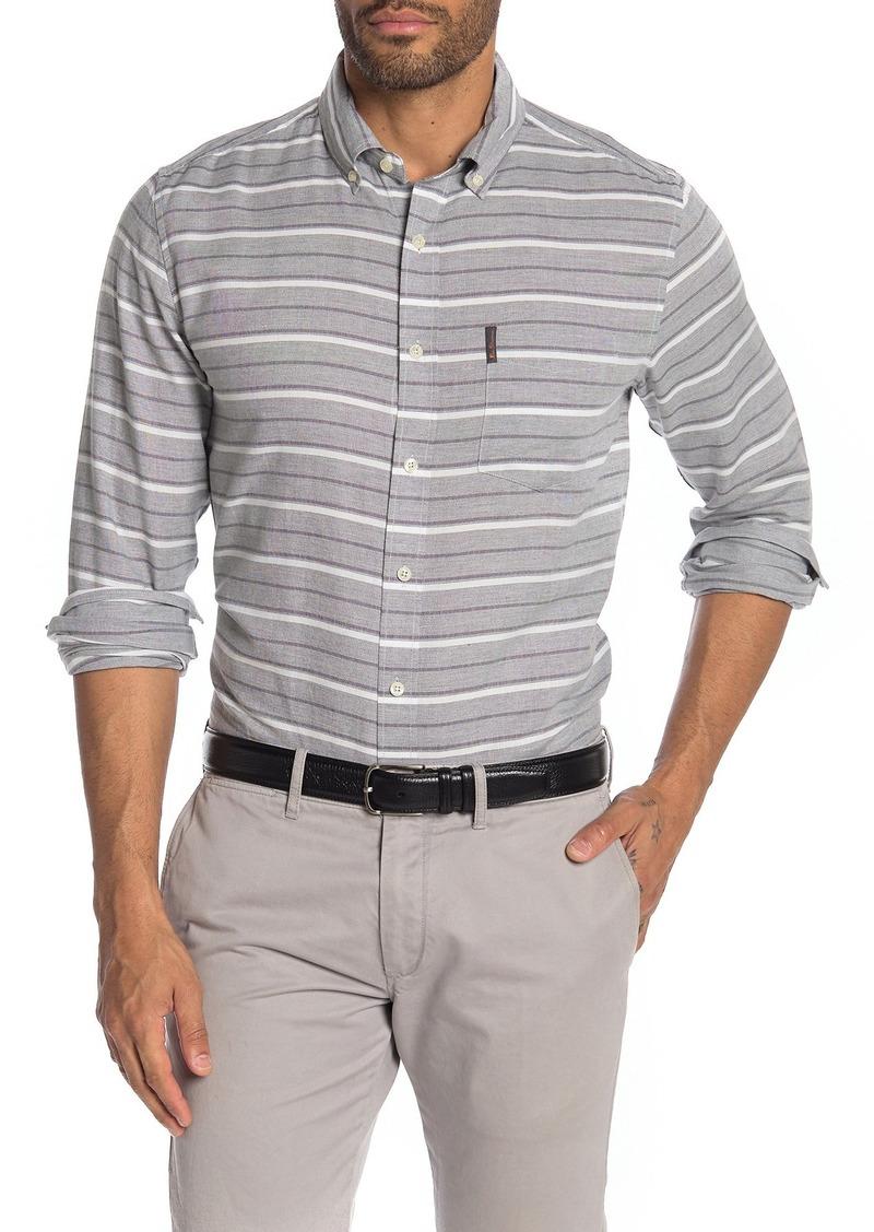 Ben Sherman Stripe Print Classic Fit Shirt