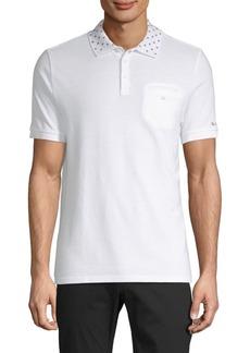 Ben Sherman Target-Print Collar Cotton Polo