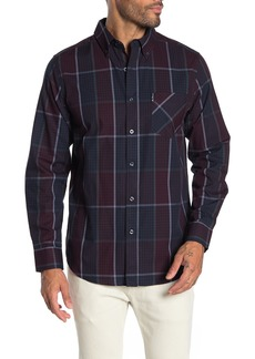Ben Sherman Window Plaid Gingham Print Classic Fit Shirt